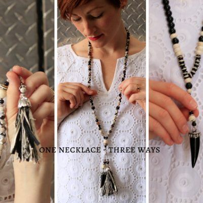 Unique Design – One Necklace Wear 3 Ways